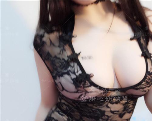 甜心奶猫酱-黑色透明蕾丝[16p+4v]